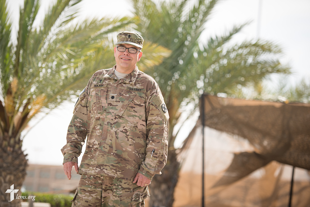 Portrait of Army Lt. Col Steven Hokana, chaplain, at Camp Arifjan Tuesday, March 24, 2015, in Kuwait. LCMS Communications/Erik M. Lunsford