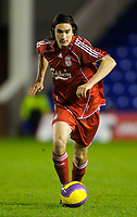 Fotball<br /> England<br /> Foto: Propaganda/Digitalsport<br /> NORWAY ONLY<br /> <br /> WARRINGTON, ENGLAND - Tuesday, November 13, 2007: Liverpool's Sebastian Leto in action against Blackburn Rovers during the FA Premiership Reserves League (Northern Division) match at the Halliwell Jones Stadium.