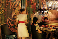 A luxurious bar, club restaurant designed by Philippe Starck