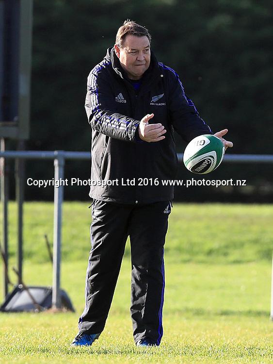 New Zealand All Blacks Squad Training, Westmanstown, Dublin 15/11/2016<br /> Head coach Steve Hansen<br /> Photo: &copy;INPHO/Donall Farmer / www.photosport.nz