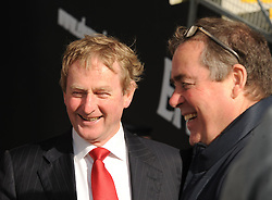 An Taoiseach Enda Kenny arriving at McHale Park for Mayo&rsquo;s qualifier match against Kildare.<br /> Pic Conor McKeown