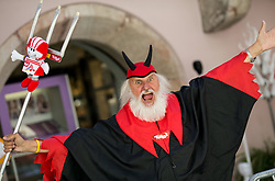 Supporter Didi the devil during the Men Elite Individual Time Trial a 52.5km race from Rattenberg to Innsbruck 582m at the 91st UCI Road World Championships 2018 / ITT / RWC / on September 26, 2018 in Innsbruck , Austria.Photo by Vid Ponikvar / Sportida