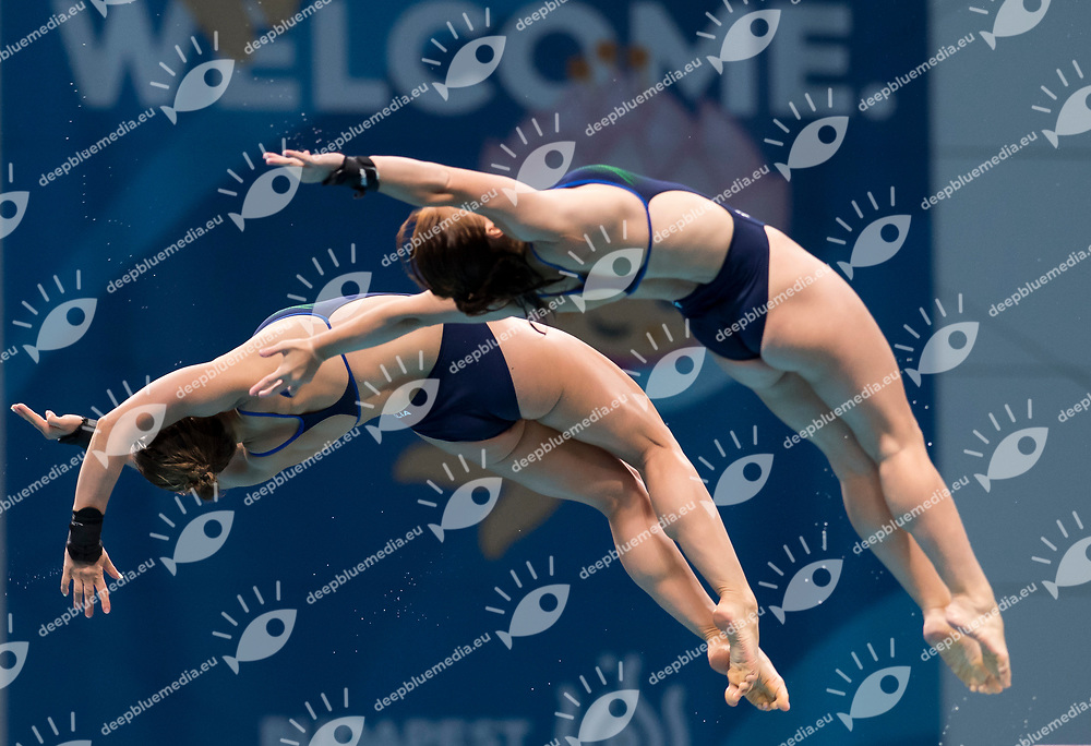 BATKI Noemi PELLACANI Chiara ITA<br /> Diving<br /> Women's 1om platform final<br /> 16/07/2017 <br /> XVII FINA World Championships Aquatics<br /> Duna Arena<br /> Photo @ Giorgio Perottino/Deepbluemedia/Insidefoto