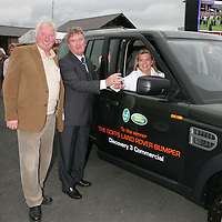 Noel Glynn of Ennis, Co Clare is pictured receiving the keys to a new Land<br />
