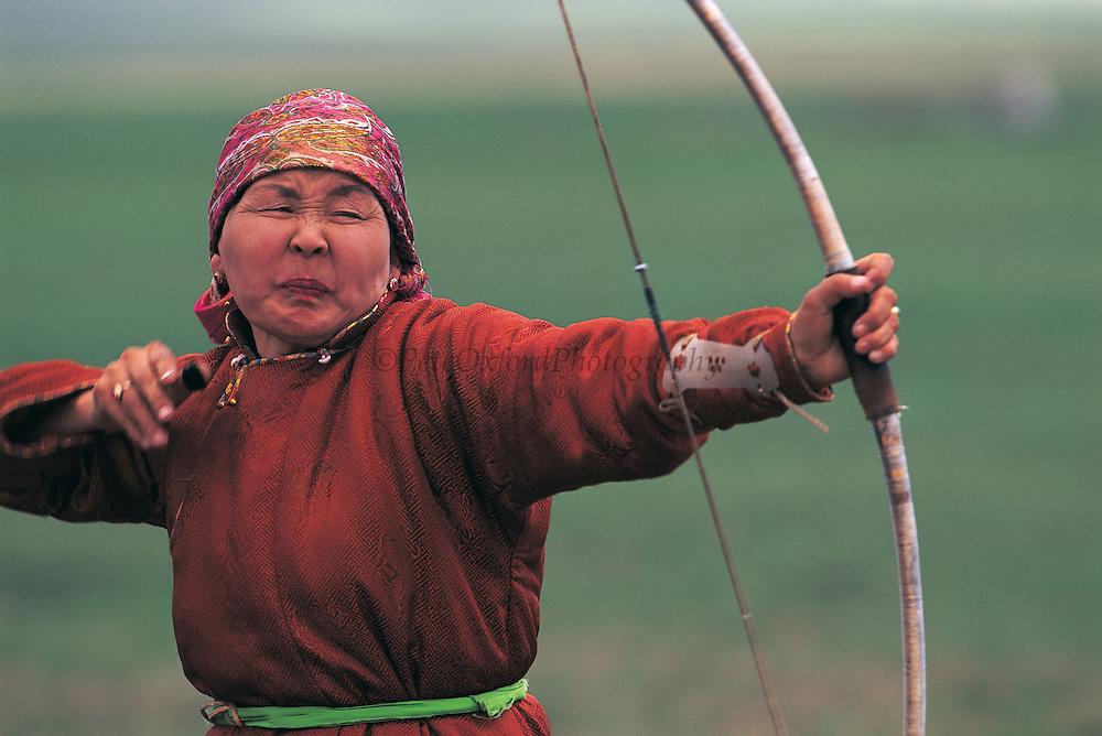 Buryat People's Naadam<br /> Archer<br /> Mongolia