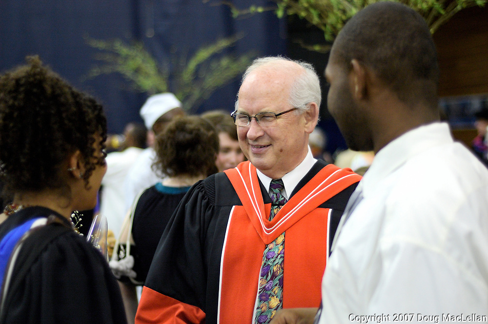 Cecil Houston at University of Windsor Convocation ceremonies in 2007. Photo by Douglas MacLellan, copyright 2007 University of Windsor. Licensing available through University of Windsor only.