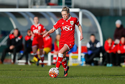 Millie Farrow of Bristol City Women in action - Mandatory byline: Rogan Thomson/JMP - 14/02/2016 - FOOTBALL - Stoke Gifford Stadium - Bristol, England - Bristol City Women v Queens Park Rangers Ladies - SSE Women's FA Cup Third Round Proper.