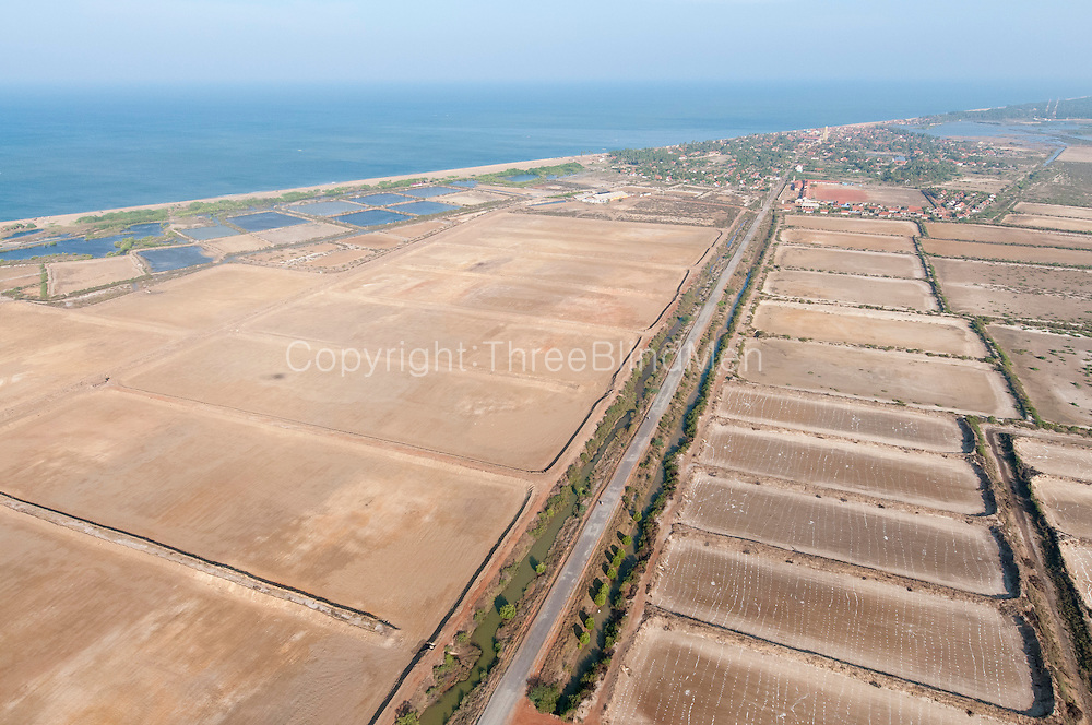 The Island from Above.  Prawn Farms just South of Udappu village. Udappu is at the top of the photograph.