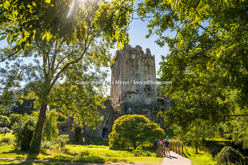 Blarney, Cork, Southern Ireland, August 2016.  Visit Blarney Castle and Kiss the Blarney Stone! The castle was built over six hundred years ago by one of Ireland's  High Chieftains Cormac McCarthy. A coastal road trip from Kilkenny to Cork via Wexford and Waterford.  Photo by Frits Meyst / MeystPhoto.com