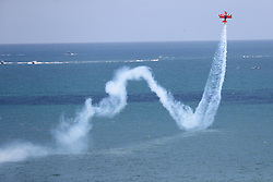 May 7, 2018 - Ft. Lauderdale, Florida, U.S. - The Lucas Oil aerobatic plane performs at the Fort Lauderdale Air Show. (Credit Image: © Mike Stocker/TNS via ZUMA Wire)