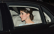 Catherine, Duchess of Cambridge attends the Diplomatic Reception at Buckingham Palace in London