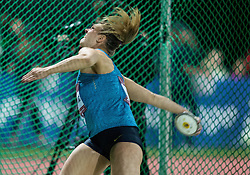 Sandra Perkovic of Croatia competes in Discus Throw Women during IAAF World Challenge Zagreb - The 65th Hanzekovic Memorial Meeting, on September 8, 2015, in Stadium Mladost, Zagreb, Croatia. Photo by Vid Ponikvar / Sportida
