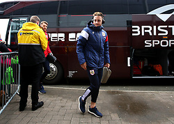 Josh Brownhill of Bristol City arrives at The Pirelli Stadium for the Sky Bet Championship match with Burton Albion - Mandatory by-line: Robbie Stephenson/JMP - 10/03/2018 - FOOTBALL - Pirelli Stadium - Burton upon Trent, England - Burton Albion v Bristol City - Sky Bet Championship