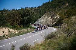 USA lead the peloton at Tour Cycliste Féminin International de l'Ardèche 2018 - Stage 7, a 90.9km road race from Chomerac to Privas, France on September 18, 2018. Photo by Sean Robinson/velofocus.com