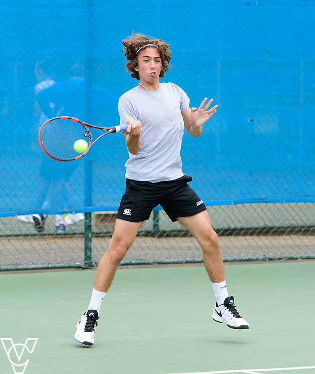 Glanville Cup - Bede's School - Ethan Parker<br /> <br /> Team Tennis Schools National Championships Finals 2017 held at Nottingham Tennis Centre.  <br /> <br /> Picture: Chris Vaughan Photography for the LTA<br /> Date: July 14, 2017