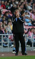 Photo: Andrew Unwin.<br /> Sunderland v Birmingham City. Coca Cola Championship. 09/08/2006.<br /> Sunderland's Steve Bruce rues a missed opportunity.