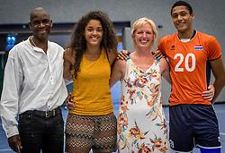 28-08-2016 NED: Nederland - Slowakije, Nieuwegein<br /> Het Nederlands team heeft de oefencampagne tegen Slowakije met een derde overwinning op rij afgesloten. In een uitverkocht Sportcomplex Merwestein won Nederland met 3-0 van Slowakije / Familie Plak