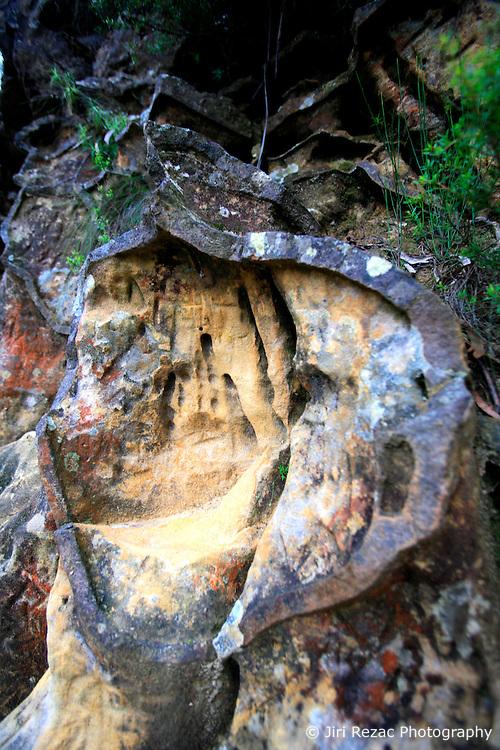 AUSTRALIA NEW SOUTH WALES 13FEB08 - Bizarre rock formations near the Three Sisters, a famous landmark in the Blue Mountains, New South Wales, Australia...jre/Photo by Jiri Rezac..© Jiri Rezac 2008..Contact: +44 (0) 7050 110 417.Mobile:  +44 (0) 7801 337 683.Office:  +44 (0) 20 8968 9635..Email:   jiri@jirirezac.com.Web:    www.jirirezac.com..© All images Jiri Rezac 2007 - All rights reserved.