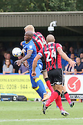 AFC Wimbledon striker Tom Elliott (9) in action during the EFL Sky Bet League 1 match between AFC Wimbledon and Shrewsbury Town at the Cherry Red Records Stadium, Kingston, England on 24 September 2016. Photo by Stuart Butcher.