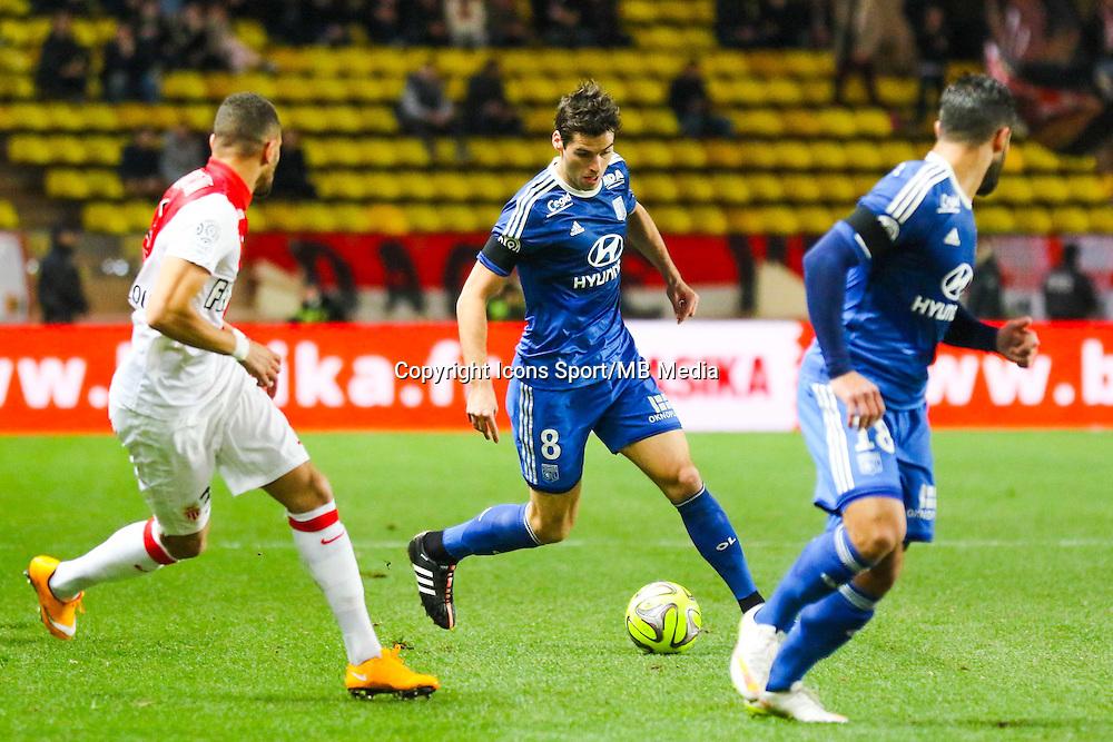 Yoann GOURCUFF - 01.02.2015 - Monaco / Lyon - 23eme journee de Ligue 1 -<br /> Photo : Serge Haouzi / Icon Sport