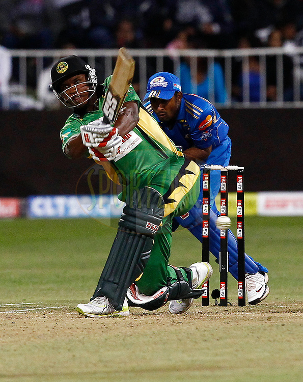 Christopher Barnwell of Guyana  during match 10 of the Airtel CLT20 between The Mumbai Indians and Guyana held at Kingsmead Stadium in Durban on the 16 September 2010..Photo by: Gerhard Duraan/SPORTZPICS/CLT20.