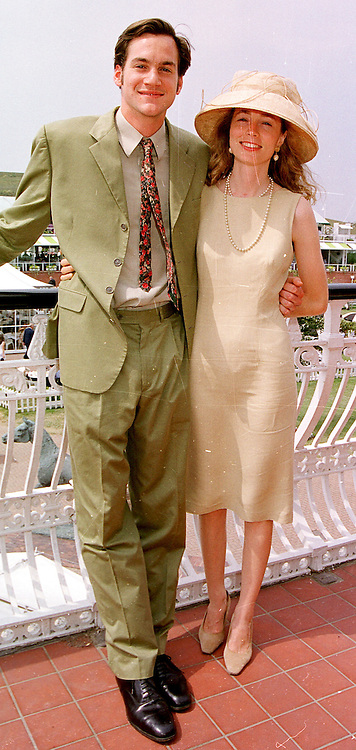 MR BEN & LADY LOUISA COLLINGS she is the daughter of the Duke of Richmond, at a race meeting in West Sussex on 30th July 1999.MUP 36
