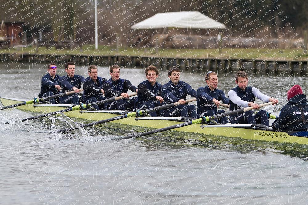 Oxford University Blue Boat 2010 during training at Wallingford. Bow Ben Myers (Exeter College - GB) 2 Martin Walsh (Green Templeton - Ire) 3 Tyler Winklevoss (Christ Ch - USA) 4 Cameron Winklevoss (Christ Ch - USA) 5 Sjoerd Hamburger (Oriel - Ned) 6 Matt Evans (University - Can/GB) 7 Simon Gawlik (Kellogg - Ger) Stroke Charlie Burkitt (Wolfson - GB) Cox Adam Barhamand (Wolfson - USA).