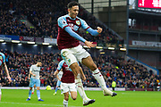 goal Burnley forward Dwight McNeil (31) celebrates as he scores a goal to make it 2-0 during the Premier League match between Burnley and West Ham United at Turf Moor, Burnley, England on 30 December 2018.