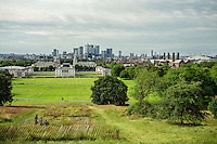 View from the top of  Greenwich Park looking north - London, England, 2016