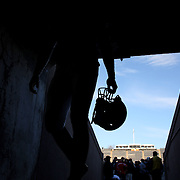 Yale players head up the tunnel back to the dressing room after victory during the Yale V Brown, Ivy League Football match at Yale Bowl. Yale won the match 24-17. New Haven, Connecticut, USA. 9th November 2013. Photo Tim Clayton