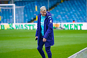 Leeds United defender Gjanni Alioski (10) arrives at the ground during the EFL Sky Bet Championship match between Leeds United and Bristol City at Elland Road, Leeds, England on 15 February 2020.
