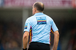 Rainbow colours on the Gallagher Premiership Rugby RFU Match Officials kit prior to kick off  - Mandatory by-line: Ryan Hiscott/JMP - 24/11/2018 - RUGBY - Sandy Park Stadium - Exeter, England - Exeter Chiefs v Gloucester Rugby - Gallagher Premiership Rugby