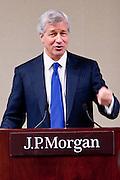 New America Alliance 11th Wall Street Summit opening lucheon at JPMorgan Chase & Co. Keynote speaker, Jamie Dimon, CEO & Chairman. Jamie Diamond addresses the New America Alliance during a lunch held at J.P. Morgan Chase headquarters in New York.