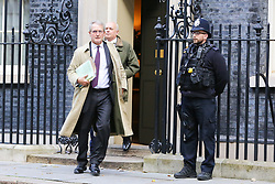 © Licensed to London News Pictures. 22/10/2019. London, UK. Members of European Research Group (ERG) OWEN PATERSON and IAIN DUNCAN SMITH (rear) departs from No 10 Downing Street after meeting the Prime Minister BORIS JOHNSON. Photo credit: Dinendra Haria/LNP
