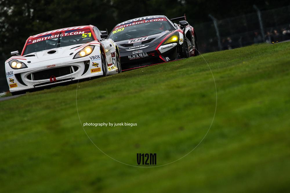 Lanan Racing | Ginetta G55 GT4 | Alex Reed | David Pittard | Black Bull Garage 59 | McLaren 570S GT4 | Sandy Mitchell | Ciaran Haggerty | British GT Championship | Oulton Park | 17 April 2017 | Photo: Jurek Biegus