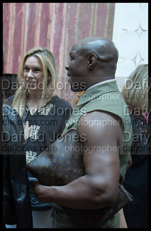 PIPPA VOSPER; CHRIS EUBANK; , Drinks party to launch this year's Frieze Masters.Hosted by Charles Saumarez Smith and Victoria Siddall<br />  Academicians' room - The Keepers House. Royal Academy. Piccadilly. London. 3 July 2014
