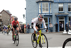 Manon Lloyd (GBR) of Drops Cycling Team rides through Rhayader on Stage 5 of 2019 OVO Women's Tour, a 140 km road race from Llandrindod Wells to Builth Wells, United Kingdom on June 14, 2019. Photo by Balint Hamvas/velofocus.com