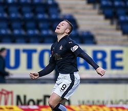 Falkirk's John Baird cele scoring their second goal. <br /> Falkirk 5 v 0 Alloa Athletic, Scottish Championship game played at The Falkirk Stadium. &copy; Ross Schofield