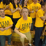 Jubilant Drexel fans in the student section of a Colonial Athletic Association basketball game, Saturday, Dec. 03, 2011 at the Bob carpenter center in Newark Delaware...Sophomore Guard #10 Devon Saddler would finish the game with 30 total points, Delaware defeat Drexel 71-60.