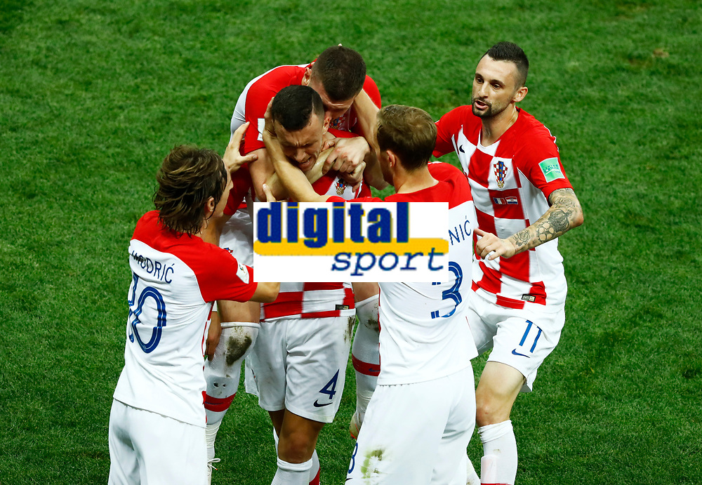 Ivan Perisic (Croatia) and teammates celebrate after 1-1<br /> Moscow 15-07-2018 Football FIFA World Cup Russia  2018 Final / Finale <br /> France - Croatia / Francia - Croazia <br /> Foto Matteo Ciambelli/Insidefoto
