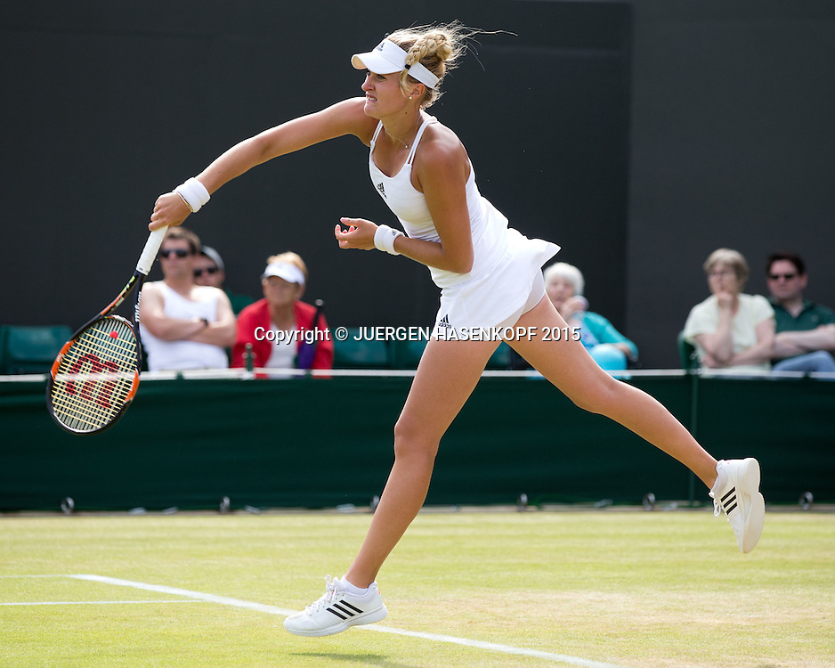 Kristina Mladenovic (FRA)<br /> <br /> Tennis - Wimbledon 2015 - Grand Slam ITF / ATP / WTA -  AELTC - London -  - Great Britain  - 3 July 2015.