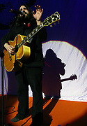 Romeo, singer of the Magic Numbers performing on stage, UK 2005