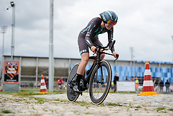 Martina Alzini (ITA) bounces across the cobbles at Boels Ladies Tour 2019 - Prologue, a 3.8 km individual time trial at Tom Dumoulin Bike Park, Sittard - Geleen, Netherlands on September 3, 2019. Photo by Sean Robinson/velofocus.com