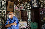 Dilip Asher, in his amazing old family home in Mandvi, Gujarat.