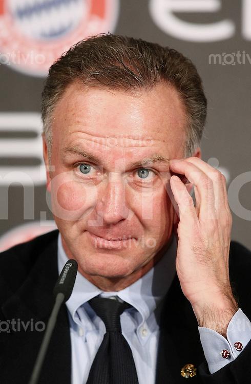 FUSSBALL   1. BUNDESLIGA   SAISON 2007/2008   19. SPIELTAG   10.02.2008 FC Bayern Muenchen Vorstandsvorsitzender Karl-Heinz Rummenigge