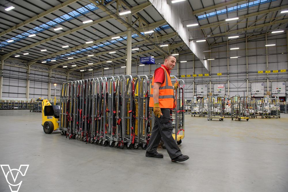 Stock / generic photographs taken at the Royal Mail's Yorkshire Distribution Centre, Normanton.  <br /> <br /> Moving empty Yorks<br /> <br /> Picture: Chris Vaughan Photography<br /> Date: November 15, 2016