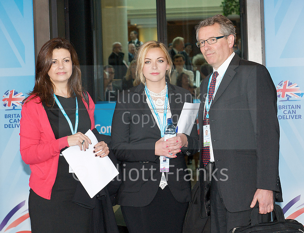 Conservative Party Conference, ICC, Birmingham, Great Britain <br /> Day 3<br /> 9th October 2012 <br /> <br /> Jacqui Hames<br /> Charlotte Church<br /> Brian Cathcart <br /> <br /> Photograph by Elliott Franks<br /> <br /> United Kingdom<br /> Tel 07802 537 220 <br /> elliott@elliottfranks.com<br /> <br /> ©2012 Elliott Franks<br /> Agency space rates apply