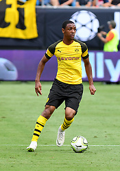 July 22, 2018 - Charlotte, NC, U.S. - CHARLOTTE, NC - JULY 22: Borussia Dortmund Abdiallo (4) moving the ball around the pitch during an International Champions Cup match between LiverPool FC and Borussia Dortmund on July 22, 2018 at Bank Of America Stadium in Charlotte,NC.(Photo by Dannie Walls/Icon Sportswire) (Credit Image: © Dannie Walls/Icon SMI via ZUMA Press)