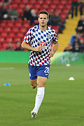 28 Azpilicueta for Chelsea FC during the EFL Cup match between Liverpool and Chelsea at Anfield, Liverpool, England on 26 September 2018.