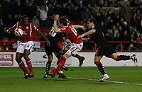 Photo: Steve Bond/Richard Lane Photography. Nottingham Forest v Doncaster Rovers. Coca Cola Championship. 28/11/2009. Billy Sharp (L) nets a late consolation